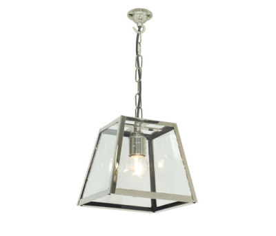 7636 Quad Pendant Internally Glazed, Small, Satin Nickel, Clear Glass by Davey Lighting Limited