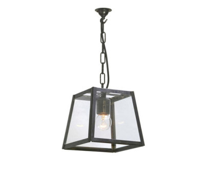 7636 Quad Pendant Internally Glazed, Small, Weathered Brass Clear by Davey Lighting Limited