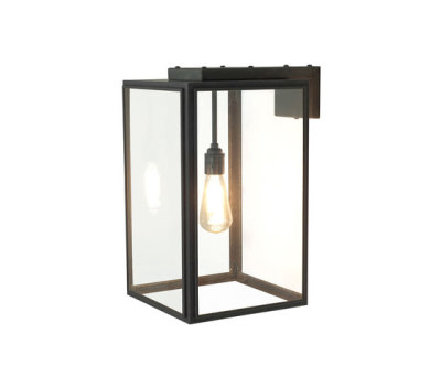 7656 Portico Wall Light Weathered Brass, Clear Glass by Davey Lighting Limited