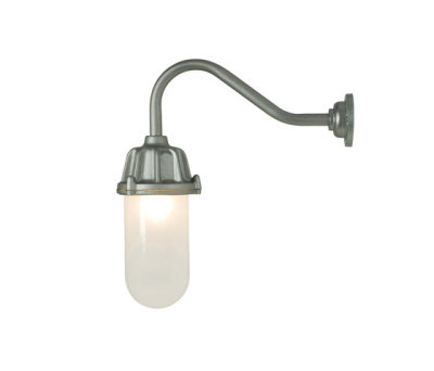 7674 Dockside Wall Light, No Reflector, Anodised Aluminium, Frosted Glass by Davey Lighting Limited