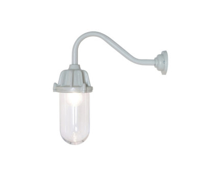 7674 Dockside Wall Light, No Reflector, Putty Grey, Clear Glass by Davey Lighting Limited