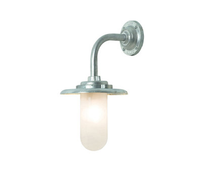 7677 Exterior Bracket Light, 60W, Round, Galvanised, Frosted Glass by Davey Lighting Limited