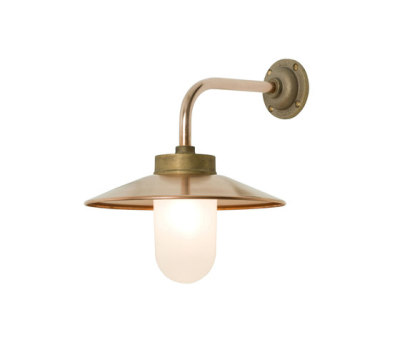 7680 Exterior Bracket Light, Right Angle, Round, Gunmetal, Frosted Glass by Davey Lighting Limited