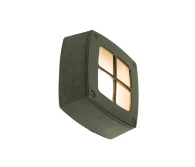 8140 Wall Light Square, Cross Guard, Weathered Brass by Davey Lighting Limited