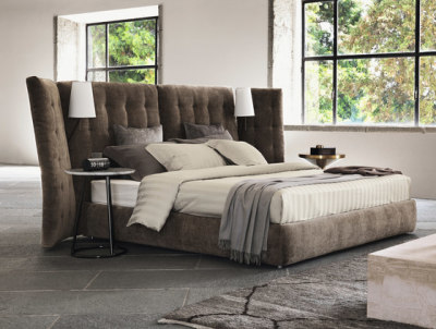 Angle Quilted headboard by Flou