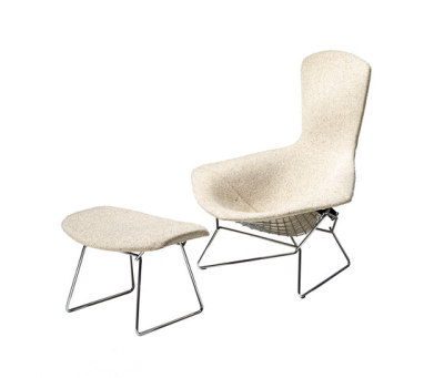 Bertoia high back ottoman by Knoll International