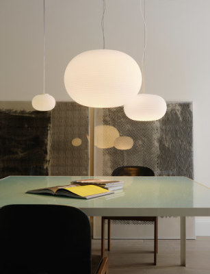Bianca Suspension lamp Large by FontanaArte