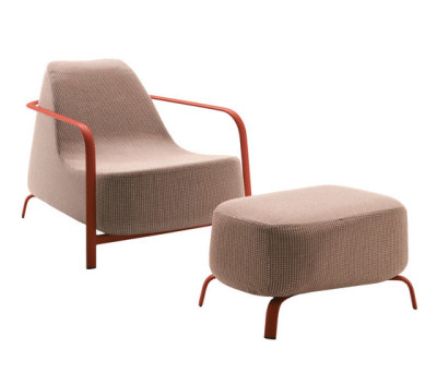 Bigfoot armchair + pouf by Fast
