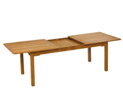 Burma extension table by Fischer Möbel