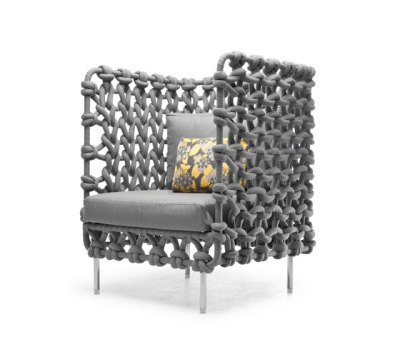 Cabaret Easy Armchair high back by Kenneth Cobonpue