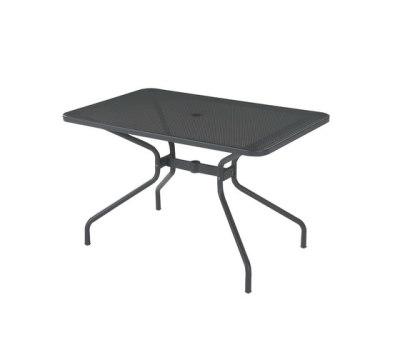 Cambi rectangular table;120x80cm top Black
