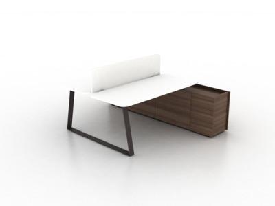 Coach Double office desk by Ergolain