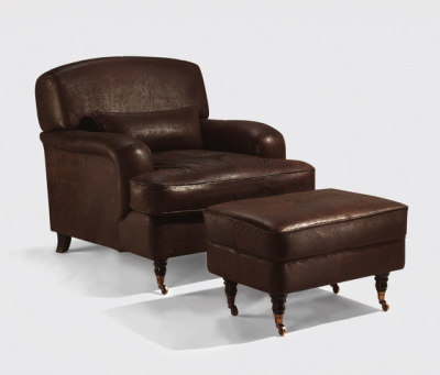 Continental armchair & stool by Lambert