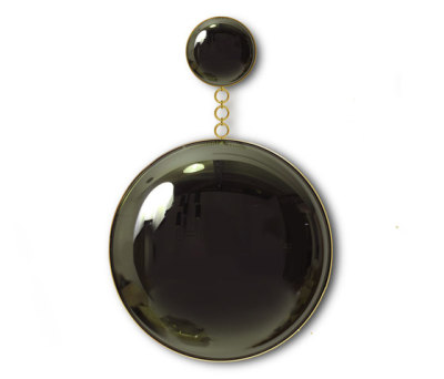 Convex Mirror Moon & Eclipse Black by Martin Huxford Studio