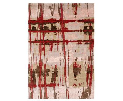 Crash 15 Teppich rot by Christine Kröncke