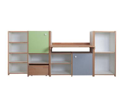 Delite – Cabinet Combination with desk by De Breuyn