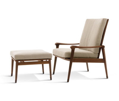 Denny Armchairs with Footrest by Giorgetti