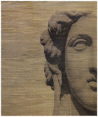 Designer Trompe L'Oeil Roman Empire Visage on Neutral Ground by Zollanvari
