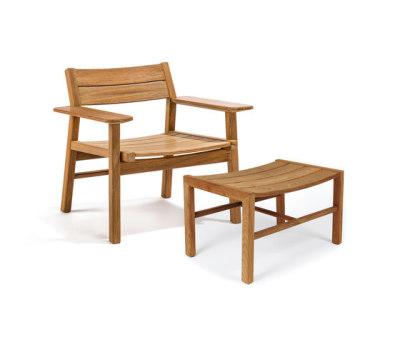 Djurö lounge chair and foot stool by Skargaarden