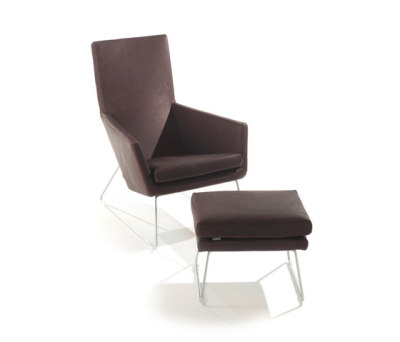 Don armchair with footstool by Label