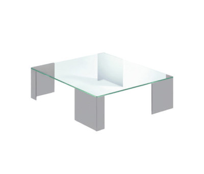 Elle 40 by Reflex Grey lacquered Glass Legs, 90x90x32 cm