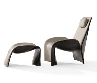 Eva Armchair with Footrest by Giorgetti