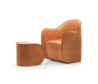 Exo armchair and pouf by Eponimo