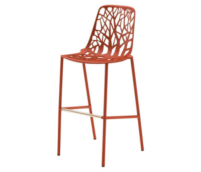 Forest barstool high backrest by Fast