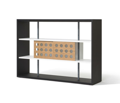 Frame shelving system by Lampert