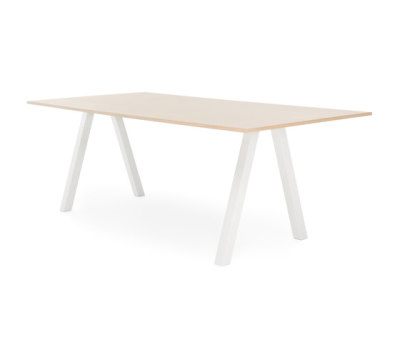 Frankie conference table high A-leg 90cm wood by Martela Oyj