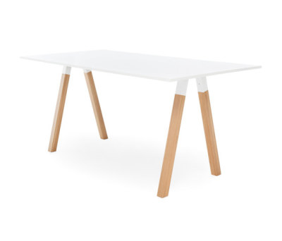 Frankie conference table high wooden A-leg 110cm by Martela Oyj