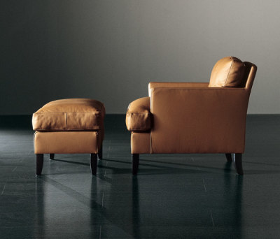 Gaben Armchair with Ottoman by Meridiani