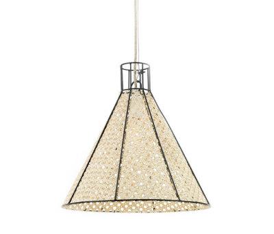 Hanging Lamp Reed Net black by Serax