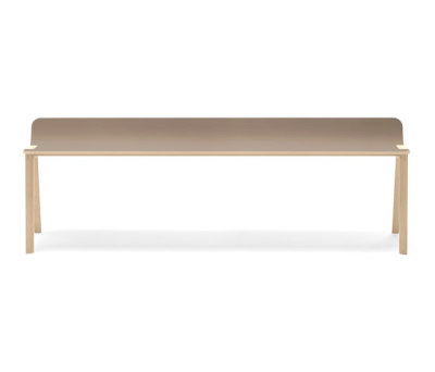 Heldu Bench low backrest by Alki
