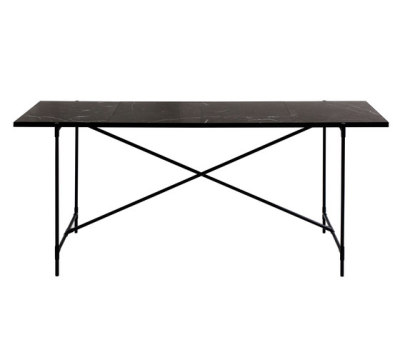 High Table BLACK on BLACK - Black Marble by HANDVÄRK