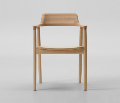 Hiroshima Arm Chair High (Wooden Seat) by MARUNI