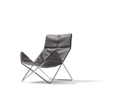 In-Out lounge chair leather by Lampert