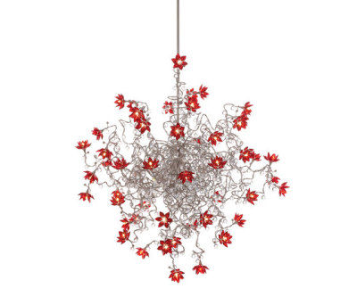 Jewel Diamond Double pendant light 48-red by HARCO LOOR