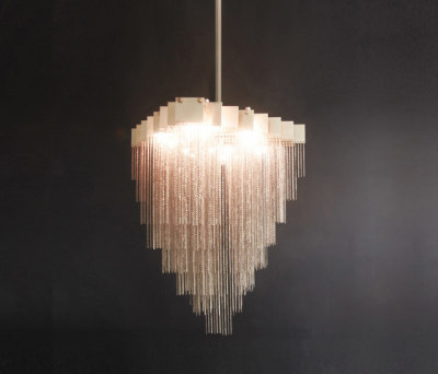 KELLY Chandelier - Brass by Gabriel Scott