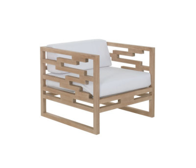 Kontiki lounge chair with cushion Lilac