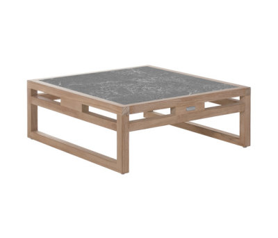 Kontiki coffee table with lava stone top N Lilac