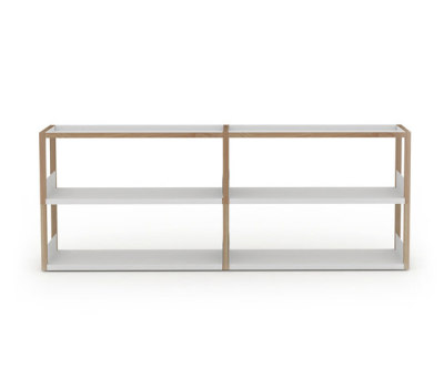 Lap shelving low by Case Furniture