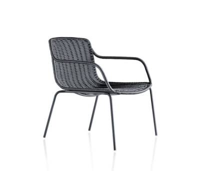 Lapala Hand-woven low armchair by Expormim