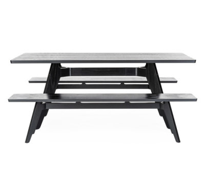 Lavitta rectangular table and bench by Poiat