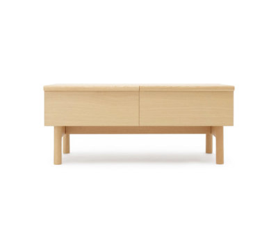 Low sideboard with two drawers by Bautier