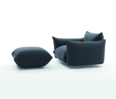 Marenco Armchair with pouf by ARFLEX