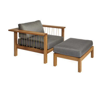 Maro Club Chair and Footstool by Oasiq
