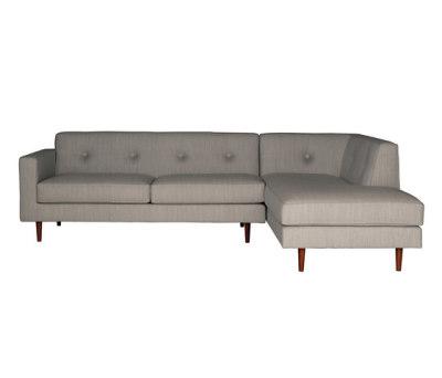 Moulton 2 seat sofa + corner unit by Case Furniture