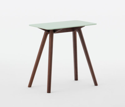Nadia Side Table Rectangular Lime Green by Meetee