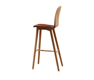 Nam Nam Wood Bar Stool upholstered by 8000C